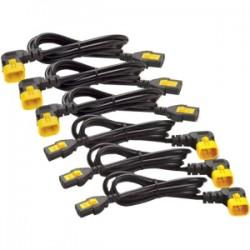 APC / Schneider Electric - AP8704R-WW - APC by Schneider Electric Power Cord Kit (6 EA), Locking, C13 to C14 (90 Degree), 1.2m - Black