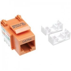IntelliNet - 210577 - Intellinet Network Solutions Cat5e Keystone Jacks - 1 x RJ-45 Female - Orange