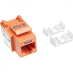 IntelliNet - 210775 - Intellinet Network Solutions Cat6 Keystone Jack - 1 x RJ-45 Female - Orange