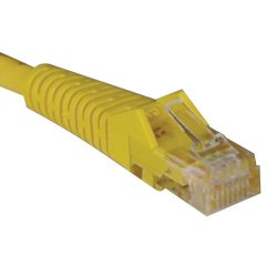 Tripp Lite - N001-007-YW - Tripp Lite 7ft Cat5e / Cat5 Snagless Molded Patch Cable RJ45 M/M Yellow 7' - Category 5e - 7ft - 1 x RJ-45 Male Network - 1 x RJ-45 Network - Yellow