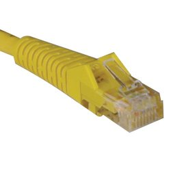 Tripp Lite - N001-010-YW - Tripp Lite 10ft Cat5e Cat5 Snagless Molded Patch Cable RJ45 M/M Yellow 10' - Category 5e - 10ft - 1 x RJ-45 Male Network - 1 x RJ-45 Male Network - Yellow