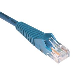 Tripp Lite - N001-015-BL - Tripp Lite 15ft Cat5e / Cat5 Snagless Molded Patch Cable RJ45 M/M Blue 15' - Category 5e - 15ft - 1 x RJ-45 Male Network - 1 x RJ-45 Male Network - Blue