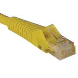 Tripp Lite - N001-025-YW - Tripp Lite 25ft Cat5e Cat5 Snagless Molded Patch Cable RJ45 M/M Yellow 25' - Category 5e - 25ft - 1 x RJ-45 Male Network - 1 x RJ-45 Male Network - Yellow