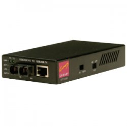 Canary Communications - CFT-2081-SM - Canary Fast Ethernet Copper-to-Fiber - 1 x RJ-45 , 1 x SC - 100Base-TX, 100Base-FX