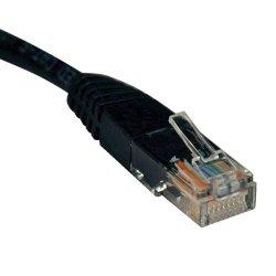 Tripp Lite - N002-006-BK - Tripp Lite 6ft Cat5e / Cat5 350MHz Molded Patch Cable RJ45 M/M Black 6' - Category 5e - 6ft - 1 x RJ-45 Male Network - 1 x RJ-45 Male Network - Black