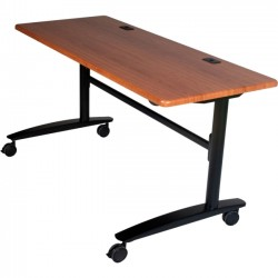 Best-Rite / MooreCo - 90064 - Balt Black Cherry Lumina Flipper Table - 6024 - Rectangle Top - 60 Table Top Width x 24 Table Top Depth x 1 Table Top Thickness - 29.50 Height - Cherry