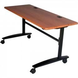 Best-Rite / MooreCo - 90067 - Balt Black Cherry Lumina Flipper Table - 7224 - Rectangle Top - 72 Table Top Width x 24 Table Top Depth x 1 Table Top Thickness - 29.50 Height - Cherry