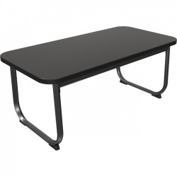 Best-Rite / MooreCo - 90460 - Balt Oui Coffee Table - Rectangle Top - Sled Base - 40 Table Top Width x 20 Table Top Depth - 19 Height - Assembly Required