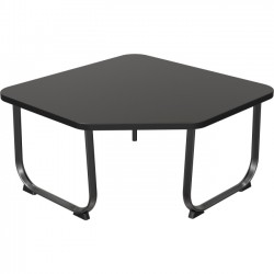 Best-Rite / MooreCo - 90461 - Balt Oui Corner Table - Square Top - Sled Base - 31 Table Top Width x 31 Table Top Depth - 19 Height - Assembly Required