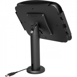 Compulocks Brands - TCDP02224SENB - RISE for iPad 2/3/4/ AIR 1 & Air 2. The New Kiosk Stand with Vesa Mount Flip&Swivel with Cable Management - 40 cm height Black - Desktop Stand