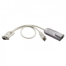 Raritan - P2CIM-SER - Raritan P2CIM-SER KVM Cable Adapter - Serial - DB-9 Female Serial, Type A Male USB - RJ-45 Female Network