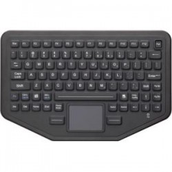 iKey - BT-87-TP-NI - iKey BT-87-TP-NI Keyboard - Wireless Connectivity - Bluetooth - 87 KeyTouchPad - Industrial Silicon Rubber - Black