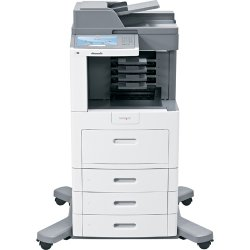 "Lexmark - 16M1845 - Lexmark X658DME Laser Multifunction Printer - Monochrome - Plain Paper Print - Desktop - Copier/Fax/Printer/Scanner - 55 ppm Mono Print - 1200 x 1200 dpi Print - Automatic Duplex Print - 55 cpm Mono Copy - 9"" Touchscreen - 600 dpi"