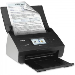 Brother International - ADS2800W - Brother ImageCenter ADS-2800W Document Scanner - Duplex - Desktop Scanner - 30ppm - Wireless - 3.7 Color Touchscreen display - 24-bit color - USB 2.0
