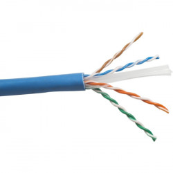 Structured Cable Products - CAT6A - SCP Cat.6a Network Cable - Category 6a - 1.25 GB/s - 1 x Bare Wire - 1 x Bare Wire - Blue