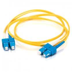 C2G (Cables To Go) - 14462 - C2G 3m SC-SC 9/125 OS1 Duplex Singlemode PVC Fiber Optic Cable (USA-Made) - Yellow - Fiber Optic for Network Device - SC Male - SC Male - 9/125 - Duplex Singlemode - OS1 - USA-Made - 3m - Yellow
