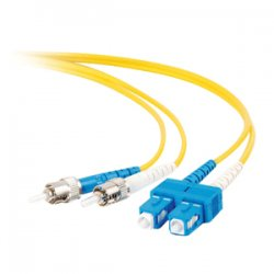 C2G (Cables To Go) - 14450 - C2G 6m SC-ST 9/125 OS1 Duplex Singlemode PVC Fiber Optic Cable (USA-Made) - Yellow - Fiber Optic for Network Device - SC Male - ST Male - 9/125 - Duplex Singlemode - OS1 - USA-Made - 6m - Yellow