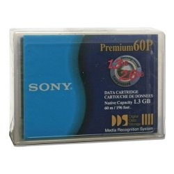Sony - DG60P//AWW - Sony DDS-1 4mm Tape Cartridge - DAT DDS-1 - 1.3GB (Native) / 2.6GB (Compressed)