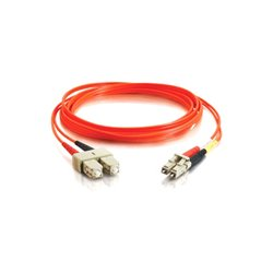 C2G (Cables To Go) / Legrand - 36453 - C2G-2m LC-SC 62.5/125 OM1 Duplex Multimode PVC Fiber Optic Cable (LSZH) - Orange - Fiber Optic for Network Device - LC Male - SC Male - 62.5/125 - Duplex Multimode - OM1 - LSZH - 2m - Orange