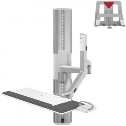 Humanscale - VF36-SAXX-12004 - Humanscale V/Flex Wall Mount for CPU, Cradle, Monitor - 6 lb Load Capacity