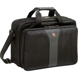 SwissGear / Wenger - WA-7652-14F00 - SwissGear LEGACY WA-7652-14F00 Carrying Case for 15.6 Notebook - Black - Polyester, Nylon - 13 Height x 6 Width x 17 Depth