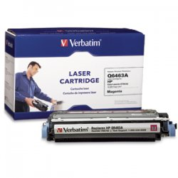 Verbatim / Smartdisk - 96763 - Verbatim Remanufactured Laser Toner Cartridge alternative for HP Q6463A Magenta - Laser - Magenta