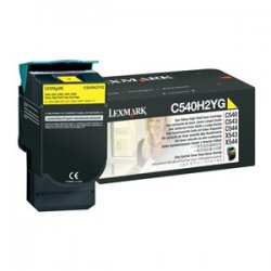 Lexmark - C540H2YG - Lexmark Original Toner Cartridge - Laser - 2000 Pages - Yellow - 1 Each