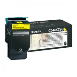 Lexmark - C544X2YG - Lexmark Yellow Toner Cartridge - Laser - 4000 Page - Yellow