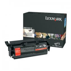 Lexmark - X651H21A - Lexmark High Yield Black Toner Cartridge - Laser - 25000 Page - Black