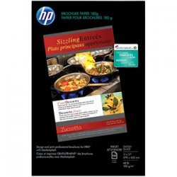 Hewlett Packard (HP) - CG932A - HP Inkjet Print Brochure/Flyer Paper - Ledger/Tabloid - 11 x 17 - 48 lb Basis Weight - Glossy - 98 Brightness - 1 / Pack - White
