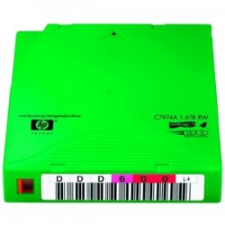 Hewlett Packard (HP) - C7974AN - HP C7974AN LTO Ultrium 4 Non Custom Labeled Tape Cartridge - LTO Ultrium LTO-4 - 800GB (Native) / 1.6TB (Compressed) - 20 Pack