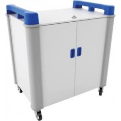 LapCabby - LAP20VBL/USA - LapCabby Charging Cart - 4 Casters - Plastic, Acrylonitrile Butadiene Styrene (ABS), Steel, Rubber - 40 Width x 27.7 Depth x 43.9 Height - Blue - For 20 Devices