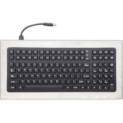 iKey - DT-1000-PS2 - iKey DT-1000 Stainless Steel Keyboard - Cable Connectivity - PS/2 Interface - 114 Key - QWERTY Keys Layout - Industrial Silicon Rubber