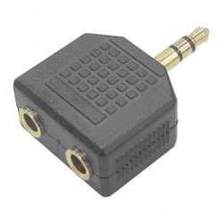 SIIG - CB-AU0412-S1 - SIIG 3.5mm Stereo Splitter - 1 x Mini-phone Male Audio - 2 x Mini-phone Female Audio - Black