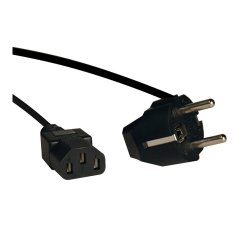 Tripp Lite - P054-006 - Tripp Lite 6ft 2-Prong Computer Power Cord European Cable C13 to SCHUKO CEE 7/7 Plug 10A 6' - Cord, 10A (IEC-320-C13 to SCHUKO CEE 7/7) 6-ft.""