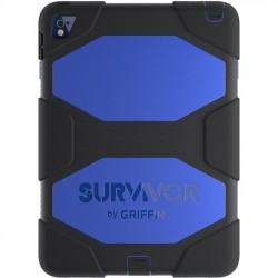 Griffin Technology - GB41874 - Griffin Survivor All-Terrain for iPad Pro 9.7-inch - iPad Pro - Black, Blue - Polycarbonate, Silicone, Polyethylene Terephthalate (PET) - 79.20 Drop Height