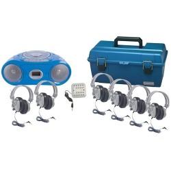 Hamilton Buhl - LCP/CD385/6SV - HamiltonBuhl 6 Person Val-U-Pack Bluetooth Boombox Listening Centers