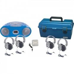 Hamilton Buhl - LCP/CD385/4SV - HamiltonBuhl 4 Person Bluetooth Boombox Listening Centers