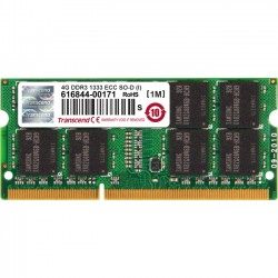 Transcend - TS512MSK72V3N-I - Transcend 4GB DDR3 1333 ECC-SO-DIMM CL9 2Rx8 IND - 4 GB (1 x 4 GB) - DDR3 SDRAM - 1333 MHz DDR3-1333/PC3-10600 - 1.50 V - ECC - Unbuffered - 204-pin - SoDIMM