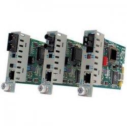 Omnitron - 8303-1 - iConverter 10Mbps Ethernet Fiber Media Converter RJ45 SC Single-Mode 30km Module - 1 x 10BASE-T; 1 x 10BASE-FL; Internal Module; Lifetime Warranty