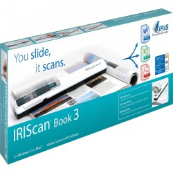 IRIS - 457888 - IRIS IRIScan Book 3 Handheld Scanner - 900 dpi Optical - Scan books & magazines without computer