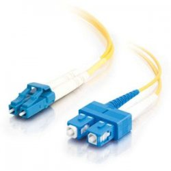 C2G (Cables To Go) - 37467 - 4m LC-SC 9/125 OS1 Duplex Singlemode PVC Fiber Optic Cable - Yellow - Fiber Optic for Network Device - LC Male - SC Male - 9/125 - Duplex Singlemode - OS1 - 4m - Yellow