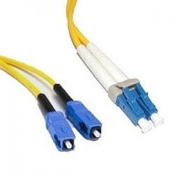C2G (Cables To Go) - 08356 - 8m LC-SC 9/125 OS1 Duplex Singlemode PVC Fiber Optic Cable - Yellow - Fiber Optic for Network Device - LC Male - SC Male - 9/125 - Duplex Singlemode - OS1 - 8m - Yellow