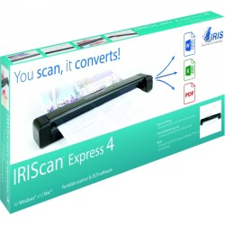 IRIS - 458511 - I.R.I.S. IRIScan Express 4 Sheetfed Scanner - 1200 dpi Optical - 8 ppm (Mono) - 8 ppm (Color) - USB