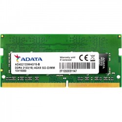 A-DATA Technology - AD4S2133W4G15-S - Adata Premier 4GB DDR4 SDRAM Memory Module - 4 GB - DDR4 SDRAM - 2133 MHz - 1.20 V - Non-ECC - Unbuffered - 260-pin - SoDIMM