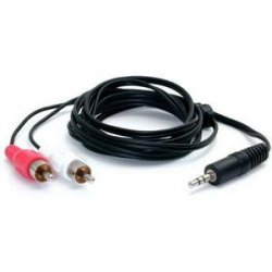StarTech - MU6MMRCA - StarTech.com Stereo Audio cable - RCA (M) - mini-phone stereo 3.5 mm (M) - 1.8 m - Mini-phone Male - RCA Male Audio - 6ft - White