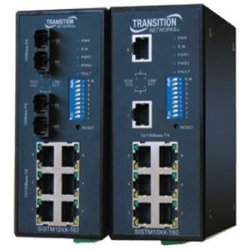Transition Networks - SISTM1011-162-LR - Transition Networks Fast Ethernet Industrial Converter Switch - 6 x RJ-45 , 2 x ST Duplex - 10/100Base-TX, 100Base-FX