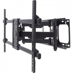 IC Intracom - 461290 - Manhattan Universal LCD Full-Motion Large-Screen Wall Mount - Holds One 37 to 90 Flat-Panel or Curved TV up to 165 lbs.; Adjustment Options to Tilt, Swivel and Level; Black