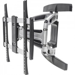 IC Intracom - 461306 - Manhattan Universal Aluminum LCD Full-Motion Wall Mount - Holds One 32 to 55 Flat-Panel or Curved TV up to 110 lbs.; Adjustment Options to Tilt, Swivel and Level; Black & Silver