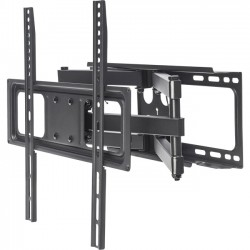 IC Intracom - 461344 - Manhattan Universal Basic LCD Full-Motion Wall Mount - Holds One 32 to 55 Flat-Panel or Curved TV up to 88 lbs.; Adjustment Options to Tilt, Swivel and Level; Black